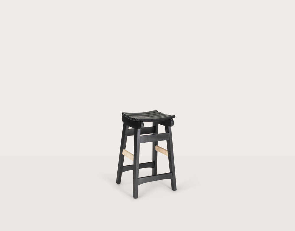 San Miguelito Bar Stool_Black Oil_Leather wrapped_palm wrap copy.jpg