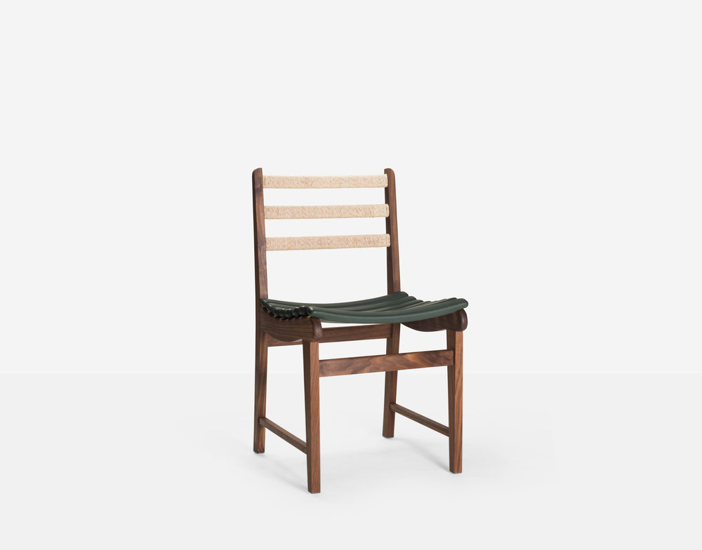 Luteca_MvB_San Miguelito-Dining Chair_Walnut_Green-Leather_FP-W.jpg