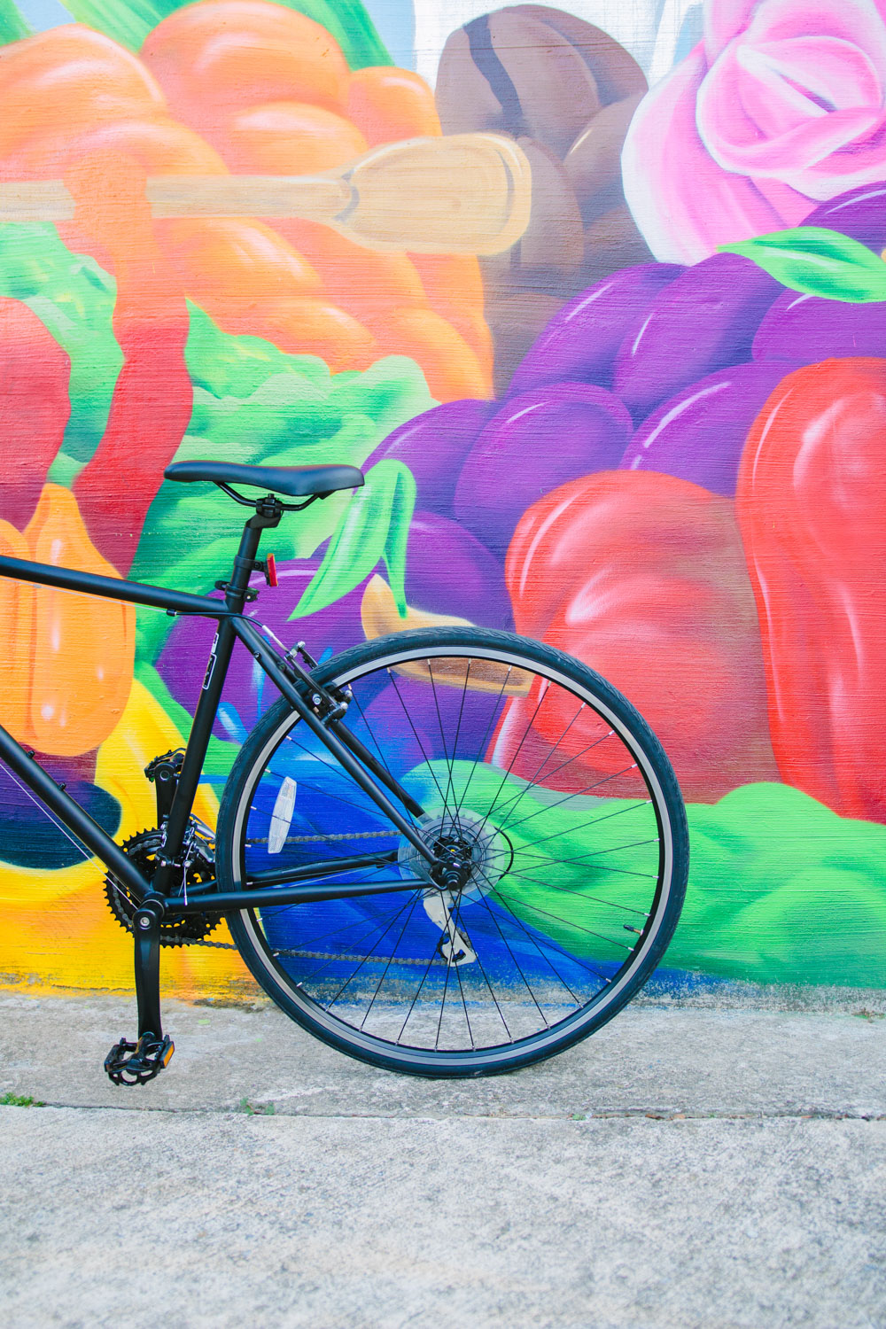 Vibrant colors by mural and graffiti artists J. Dante Bard and Troy Duff