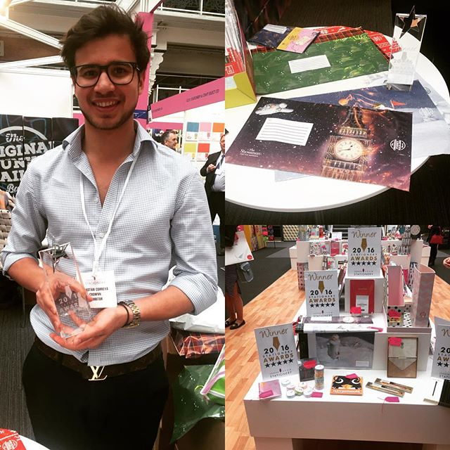 We won the Best Gift wrapping Award at the London Stationery Show 2016!🇬🇧🍾💌
