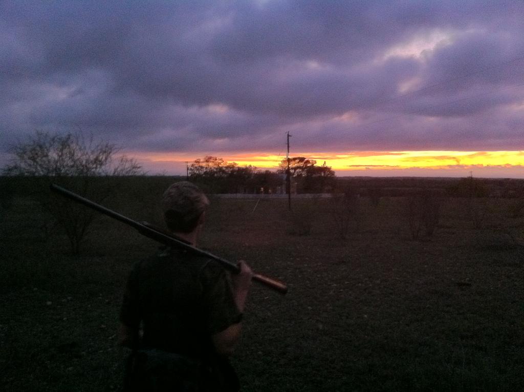 Pete on a dove hunt    Cuero, TX 2011