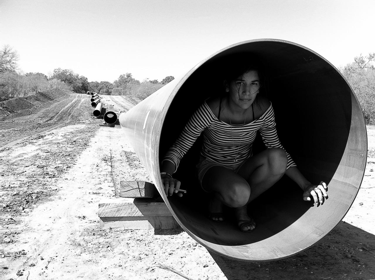 Valeria in the new pipeline    Cuero, TX 2011