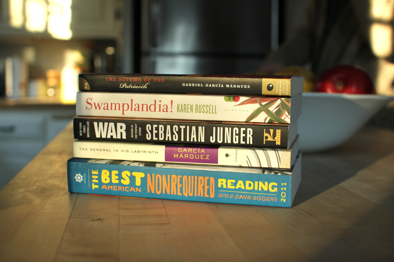 My winter break reading collection