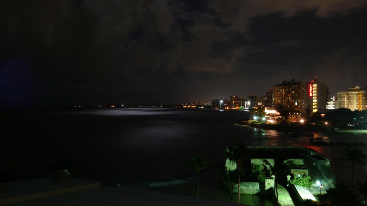 View from hotel balcony     San Juan, Puerto Rico 2010