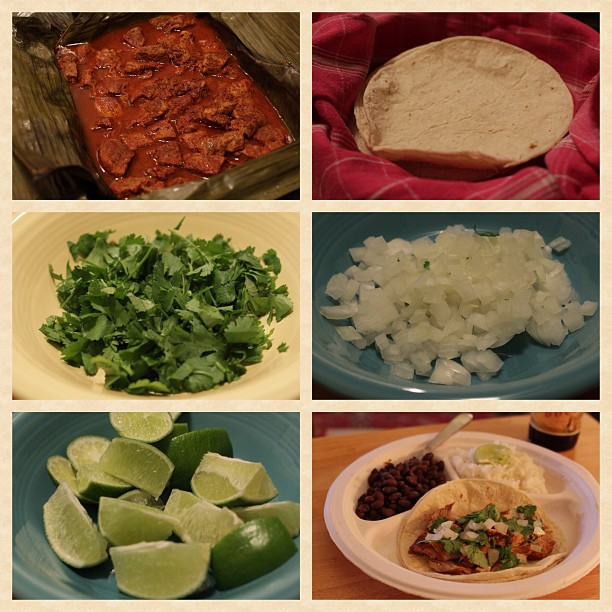 Homemade puerco pibil (thanks Dad!)