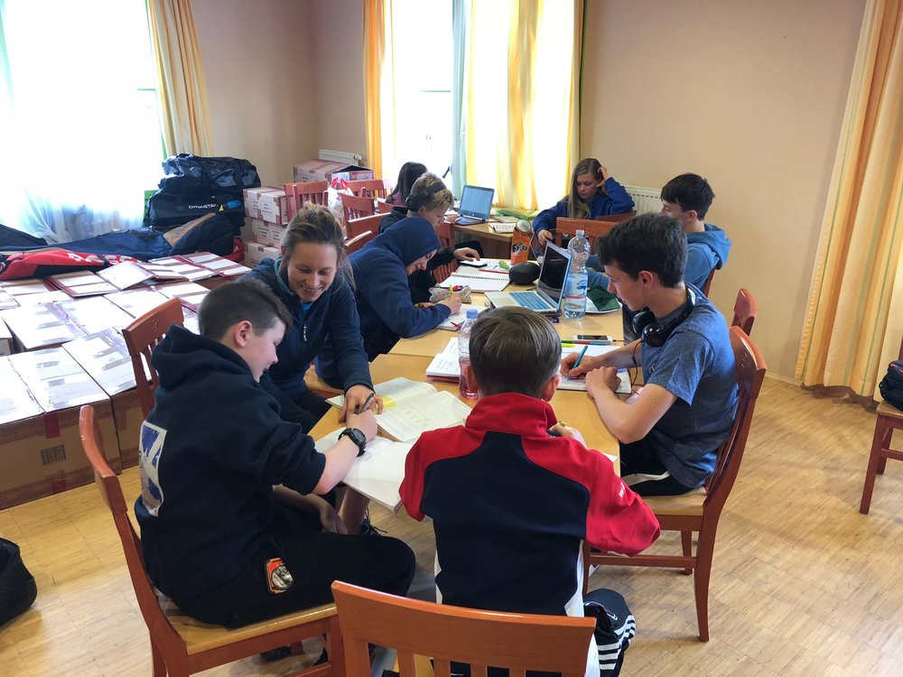 Afternoon School Session at the Academy in Austria