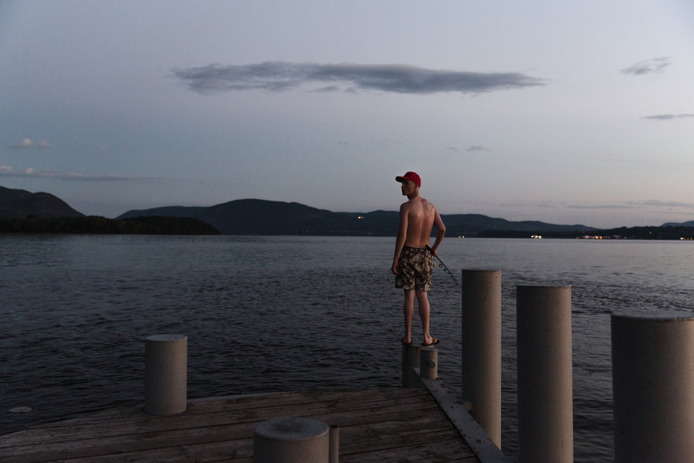 Fisherman on the Hudson - July 4th, 2017 - Eva Deitch http://evadeitch.com