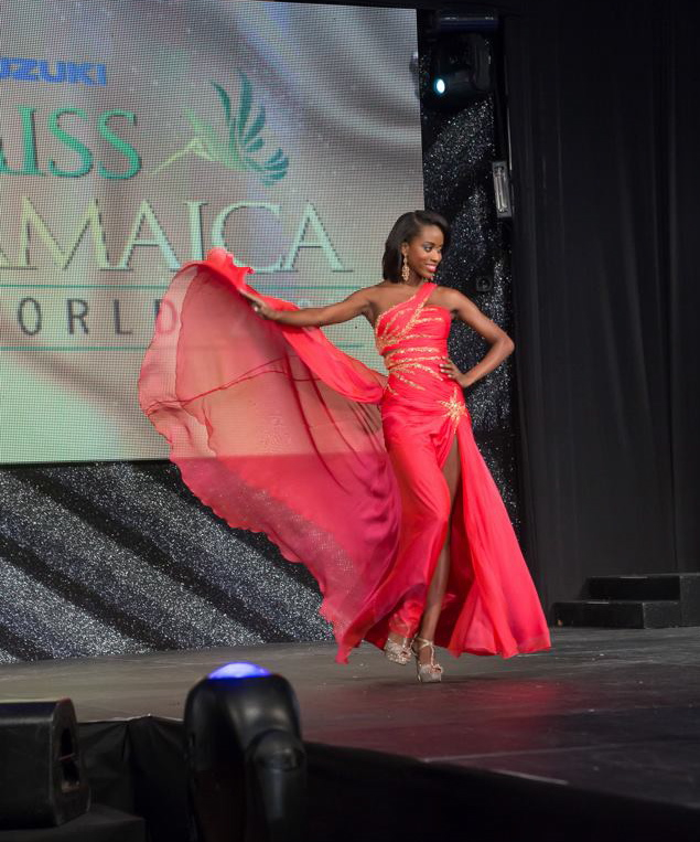 Jenaae Jackson competing in Miss Jamaica World 2013.