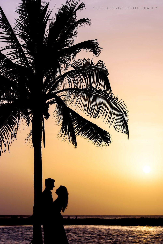 Wedding Couple at Jamaican Sunset.
