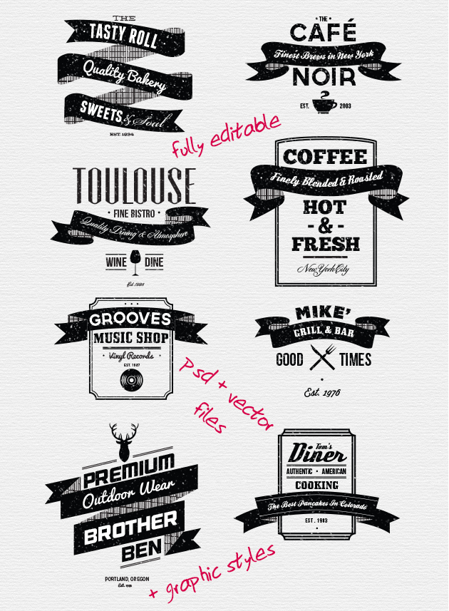 trendgraphy: Bundle: 407 Typography Elements and 600 Illustrations (98% off) Download the full editable file here:http://bit.ly/typebundle Might have to pick these up