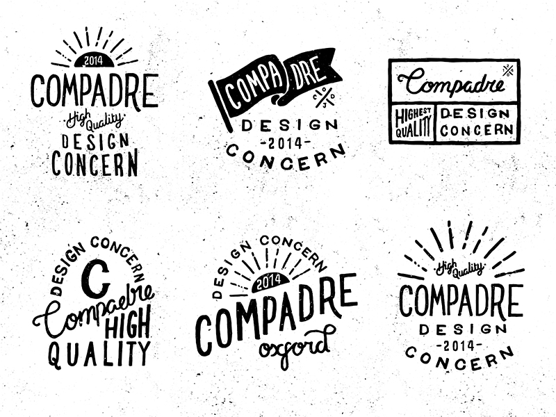 trendgraphy: Compadre Logo Concepts by Oban Jones Twitter: @Trendgrafeed Vintage is making a come back people