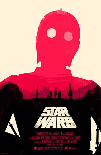 30 Amazing Star Wars Inspired Designs & Illustrations Collected by Blog Spoon Graphics http://blog.spoongraphics.co.uk/articles/30-amazing-star-wars-inspired-designs-illustrations