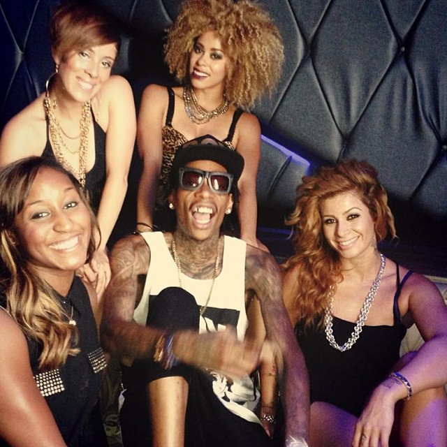Saleemah and cast on set filming with Wiz Khalifa.jpg