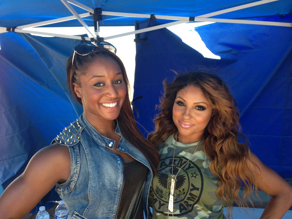 Saleemah and dancer Candice Craig on set for the Wisin _Que Viva La Vida_ Music Video Shoot.jpg