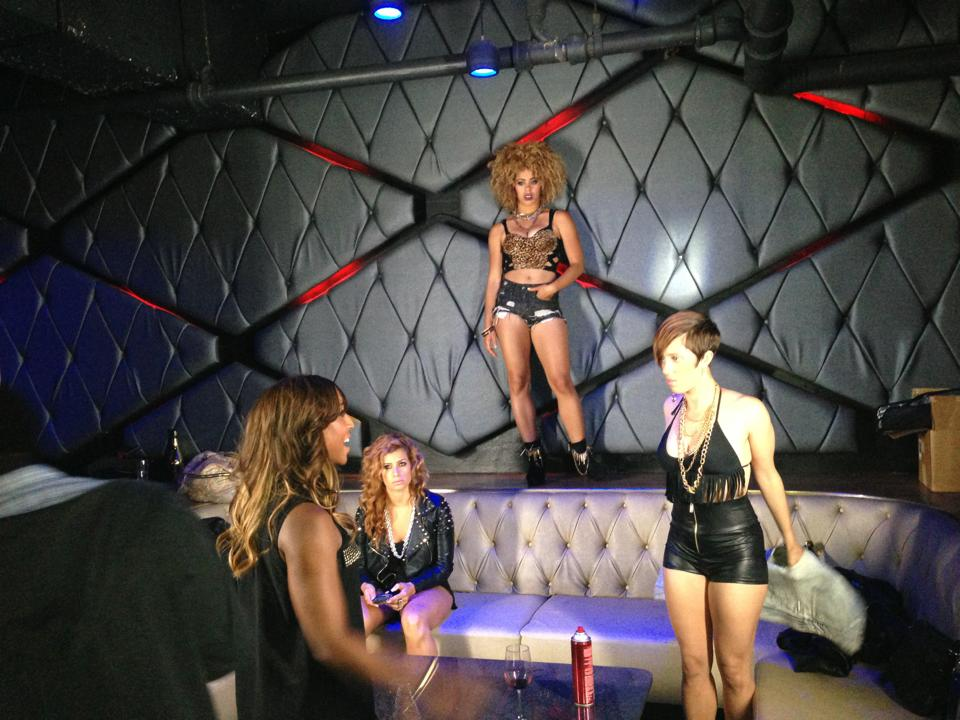 Saleemah and dancers on set for Wiz Khalifa Music Video Shoot.jpg