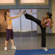 Saleemah E. Knight and Jillian Michaels on set filming the _Banish the Fat, Boost Your Metabolism_ DVD .jpg