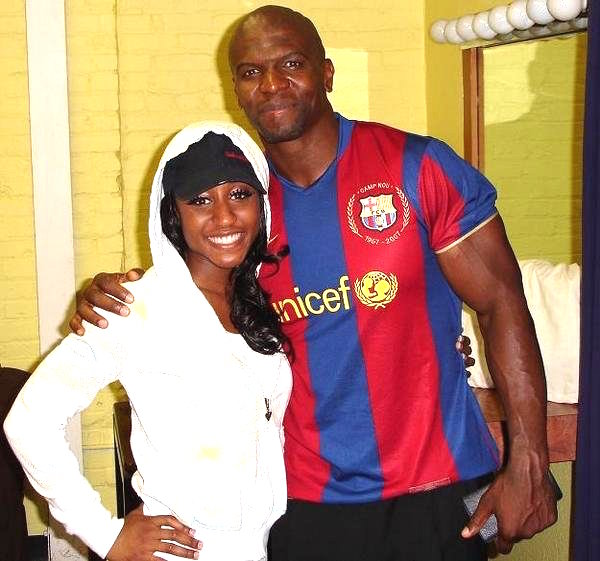 Saleemah Knight and Terry Crews on set.jpg