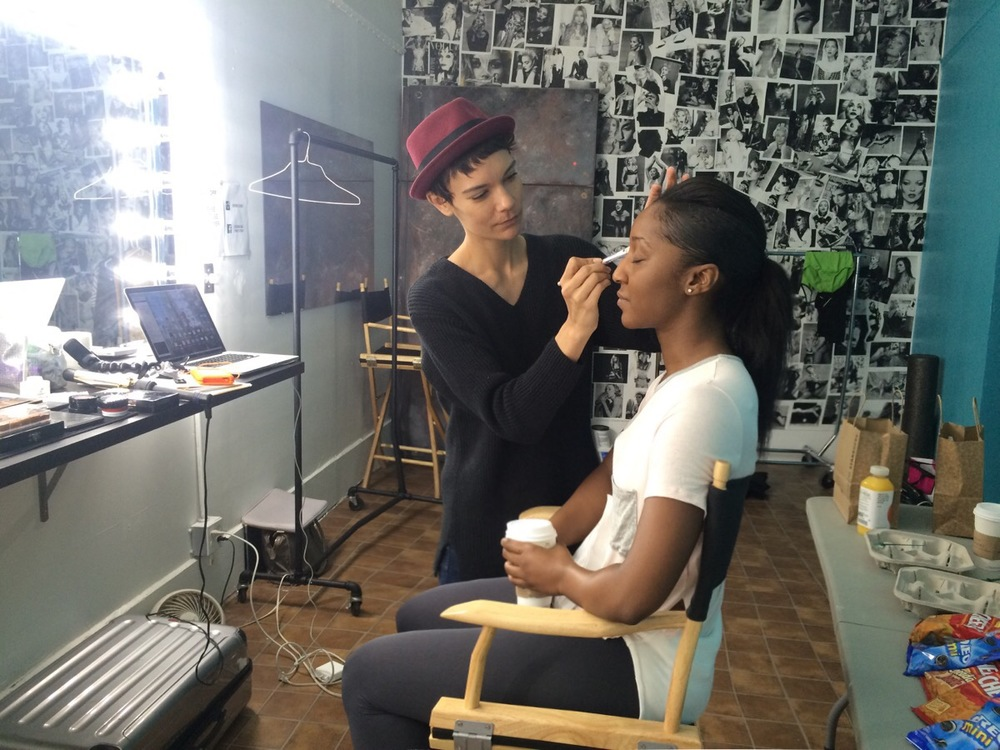Lenovo Brand Yoga Tablet 2 Pro Tutorial Shoot- Saleemah and makeup artist Veronica Chanel