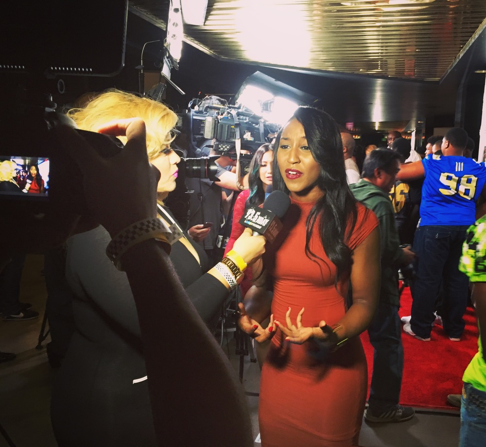 "Saleemah E. Knight- Red Carpet Interview with 93.5 KDAY at ""Coach Snoop Premiere"""