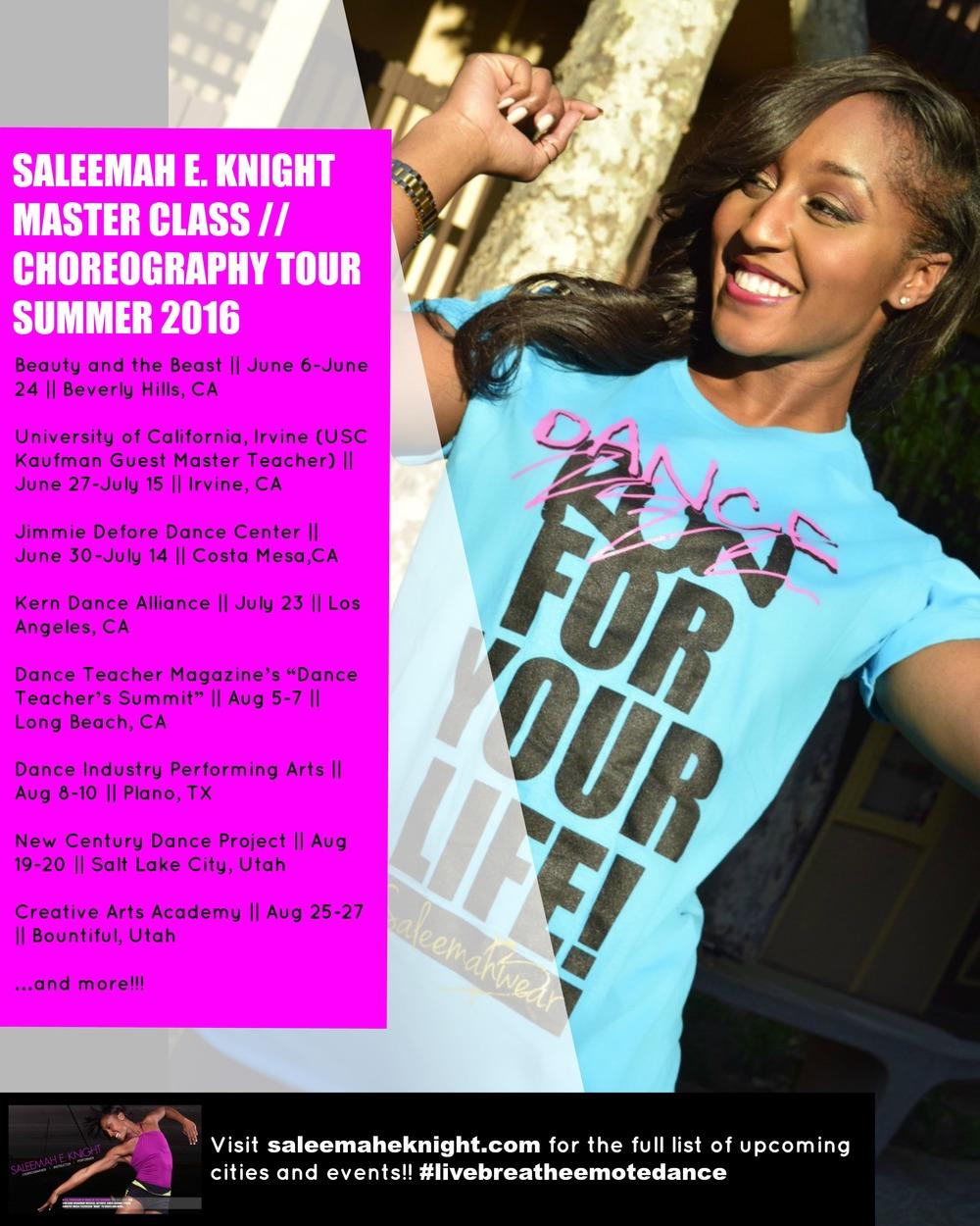 Saleemah E. Knight Master Class Tour 2016