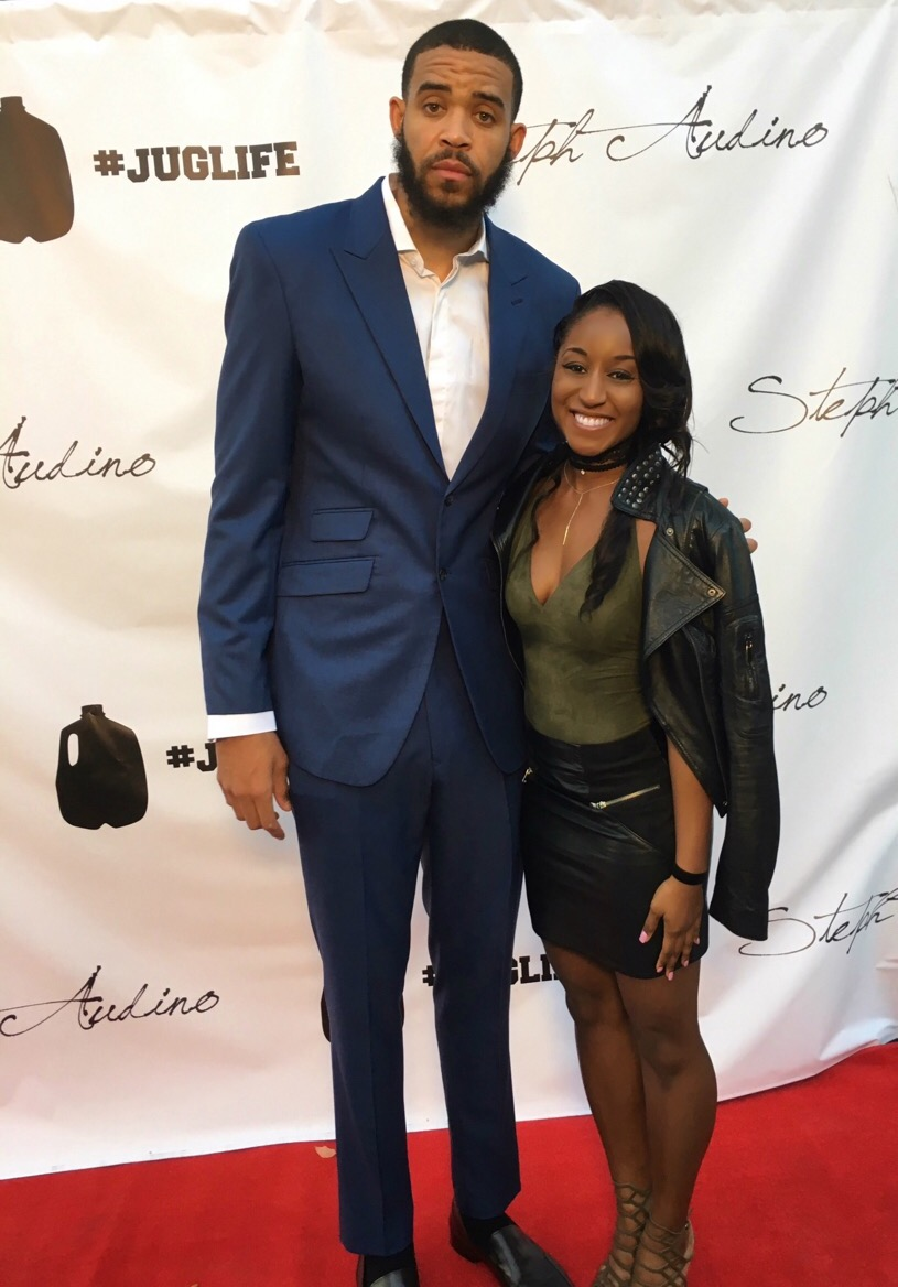 "Saleemah E. Knight and JaVale McGee (NBA) at the ""Juglife"" Red Carpet Soiree"
