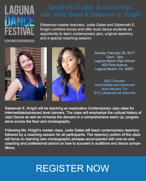 Laguna Dance Festival- Guest Contemporary Jazz Master Class with Saleemah E. Knight