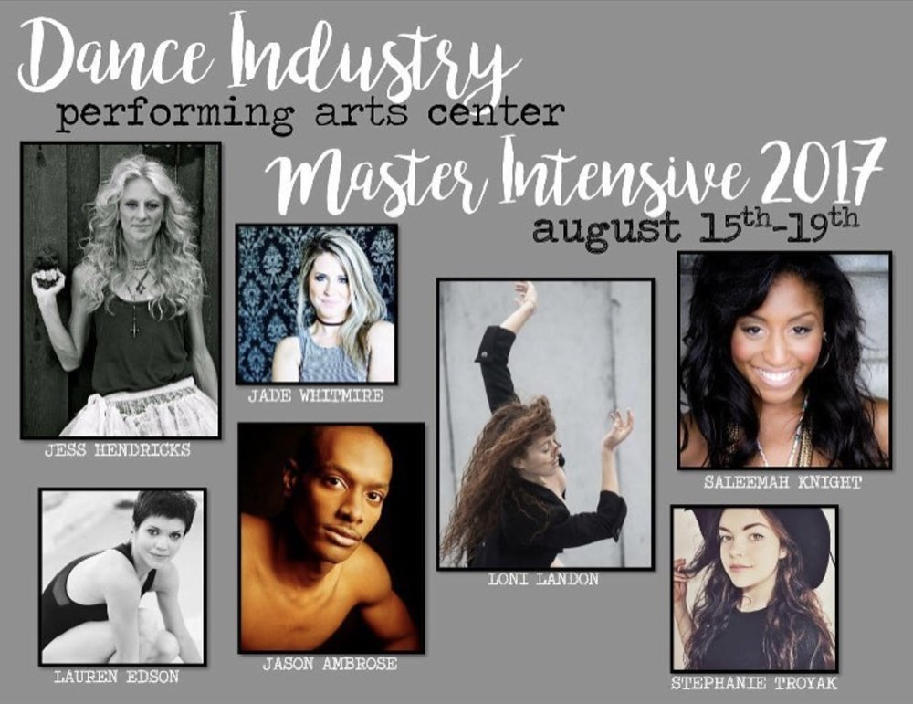 Dance Industry Performing Arts Center Master Intensive 2017
