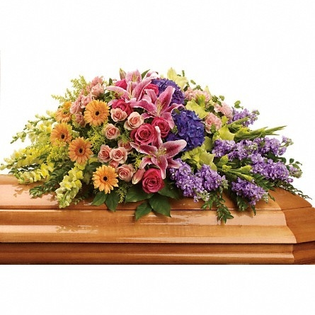 Garden of Sweet Memories Casket Spray $220 -
