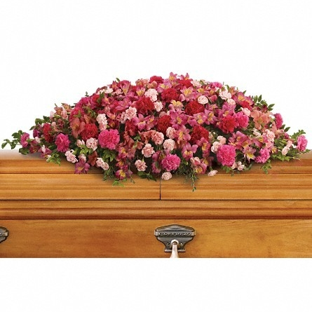 A Life Loved Casket Spray $250 -