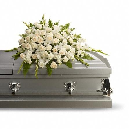 Silken Serenity casket spray $240 -