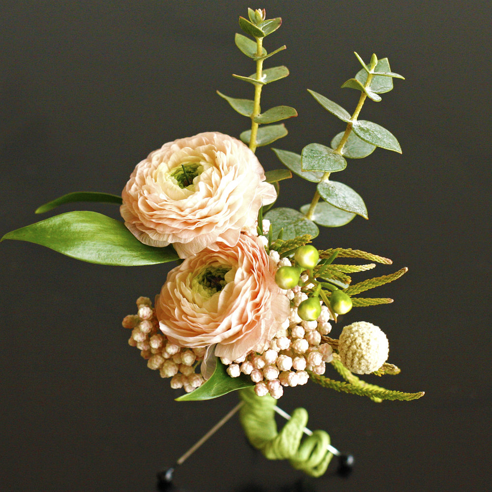 Peachy Boutonniere $20 -