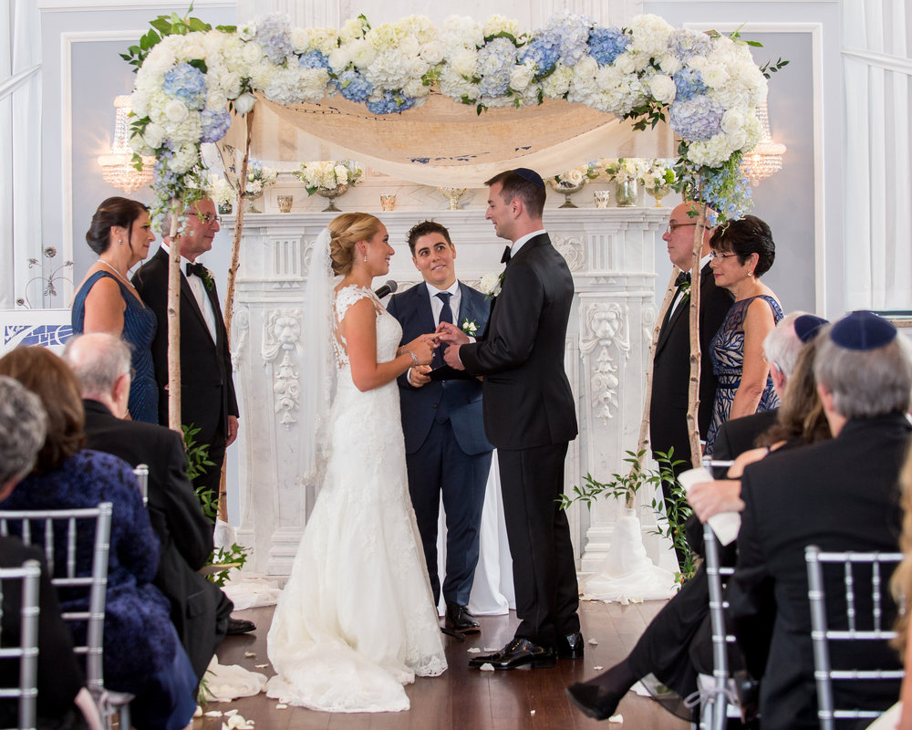 Chuppah - Birch Pole Chuppah with Very Substantial Flowers (1,400)