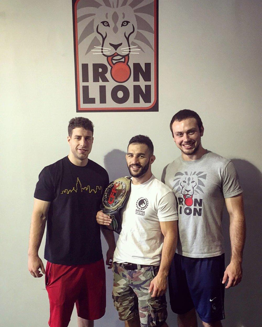 iron lion with champ.JPG