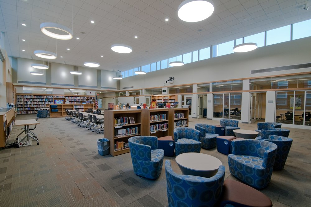 INTERIOR OF NEW J. HENRY HIGGINS MIDDLE SCHOOL