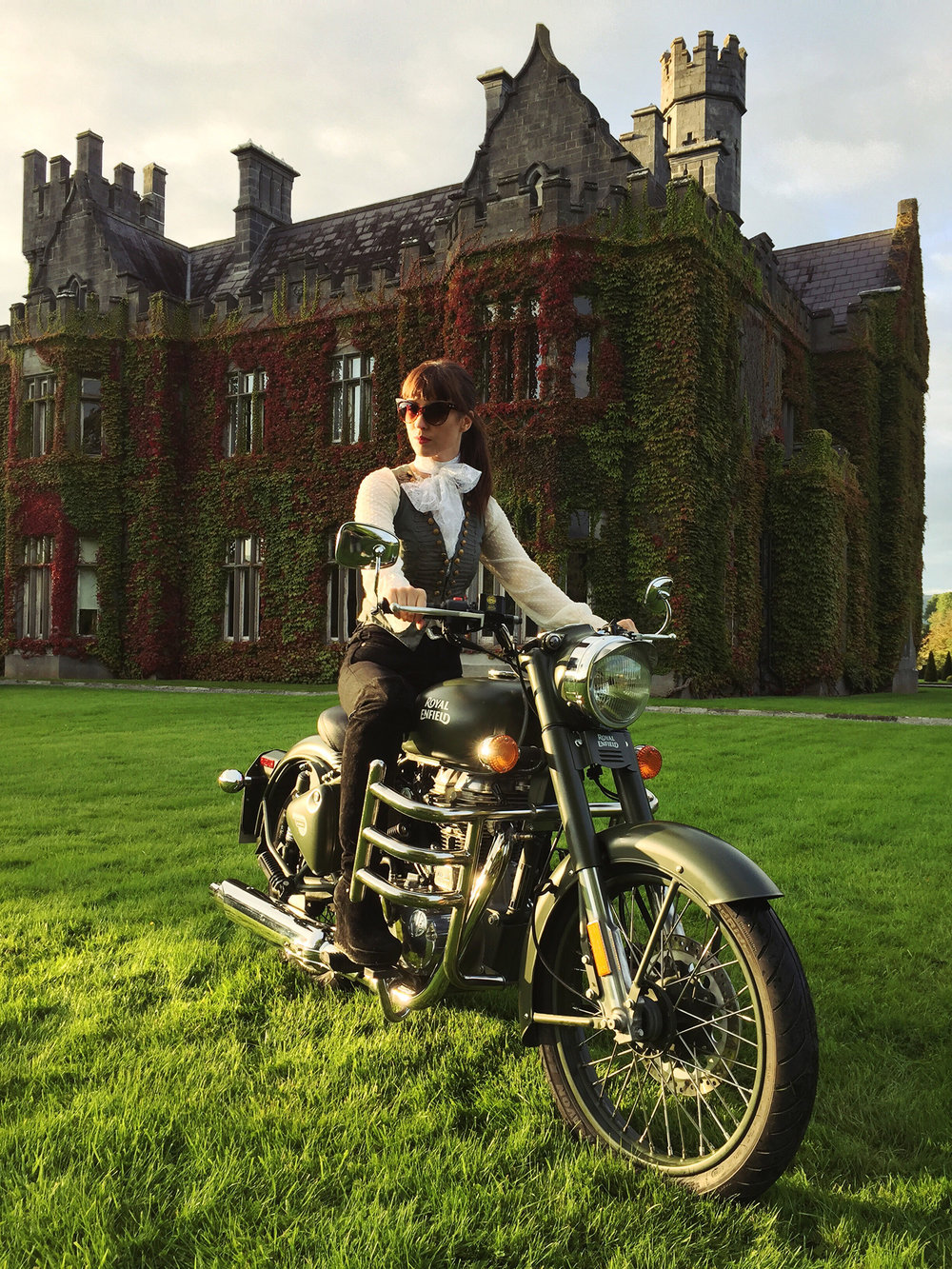 Kojii Helnwein and her Royal Enfield