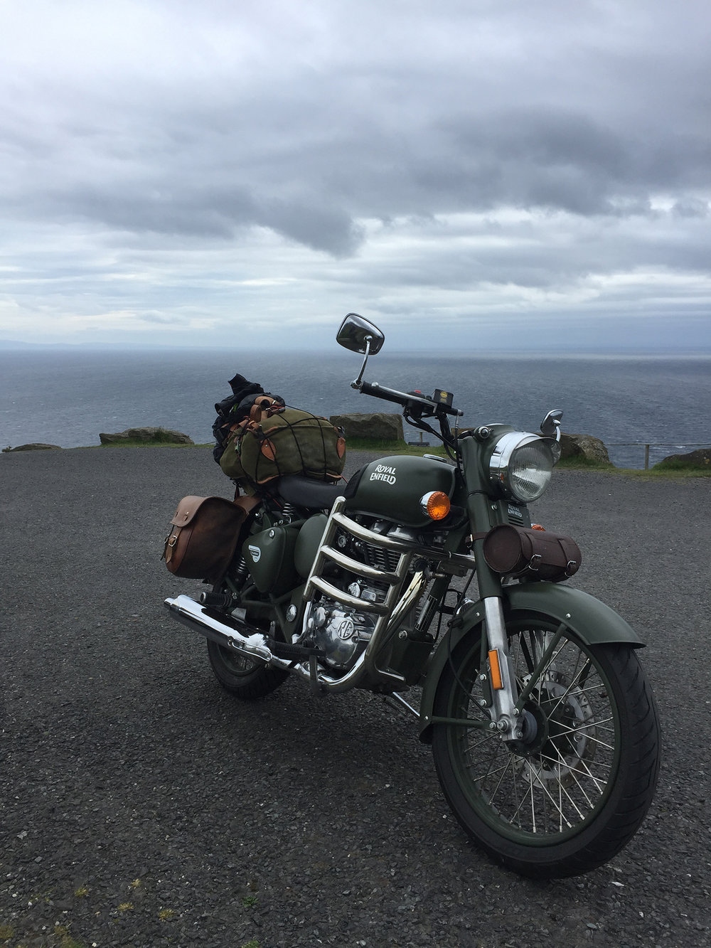 Royal Enfield at Slieve League