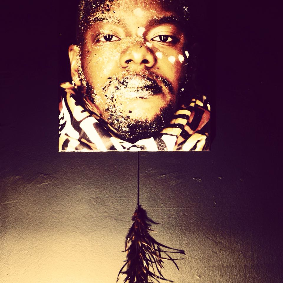 Black Male Revisited Exhibition & Performance at Art Basel Miami. All work by: Jaamil Olawale Kosoko [2013].