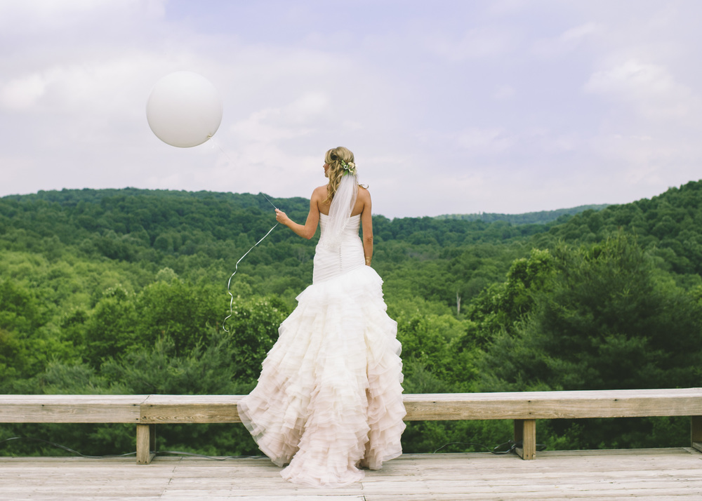 Bride with balloon
