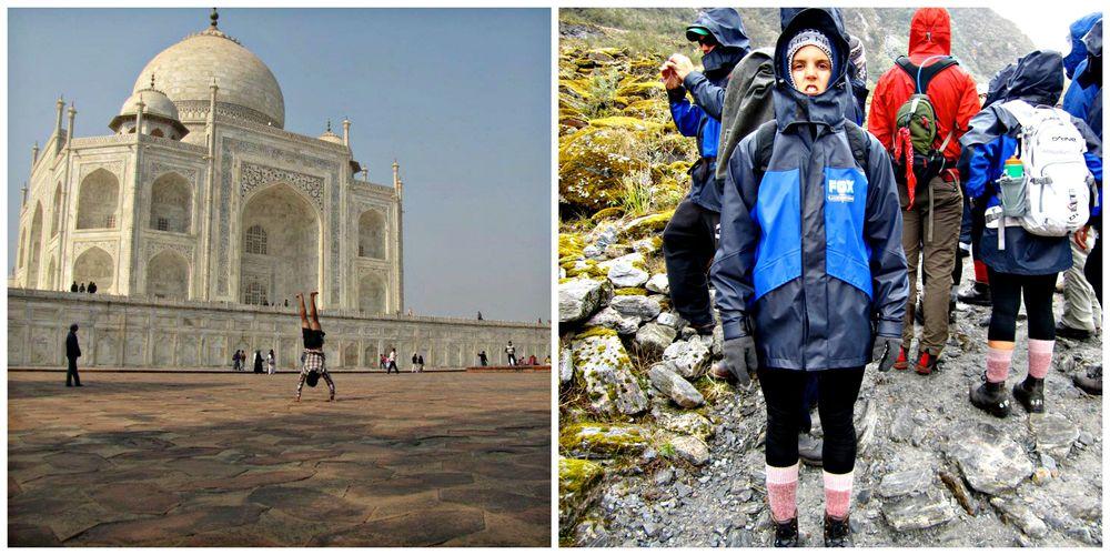 Ben in India                           Me in New Zealand