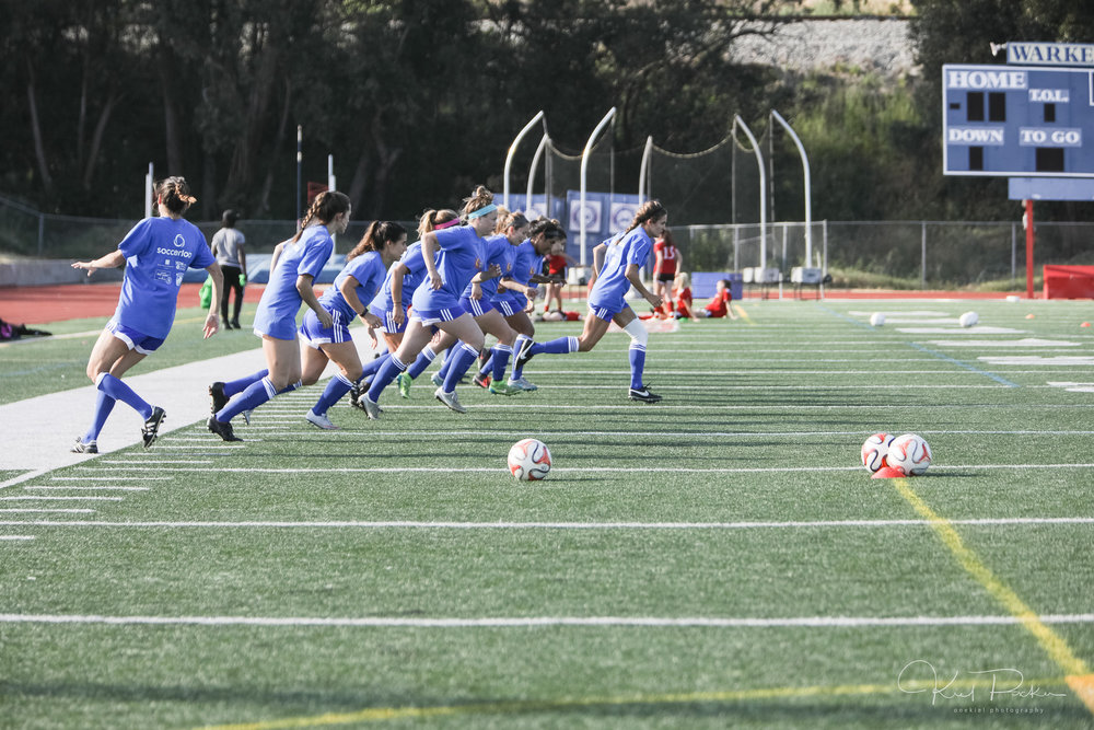 Sol Women's State Cup team warming up