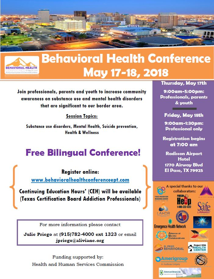 conference flyers behavioral health conference