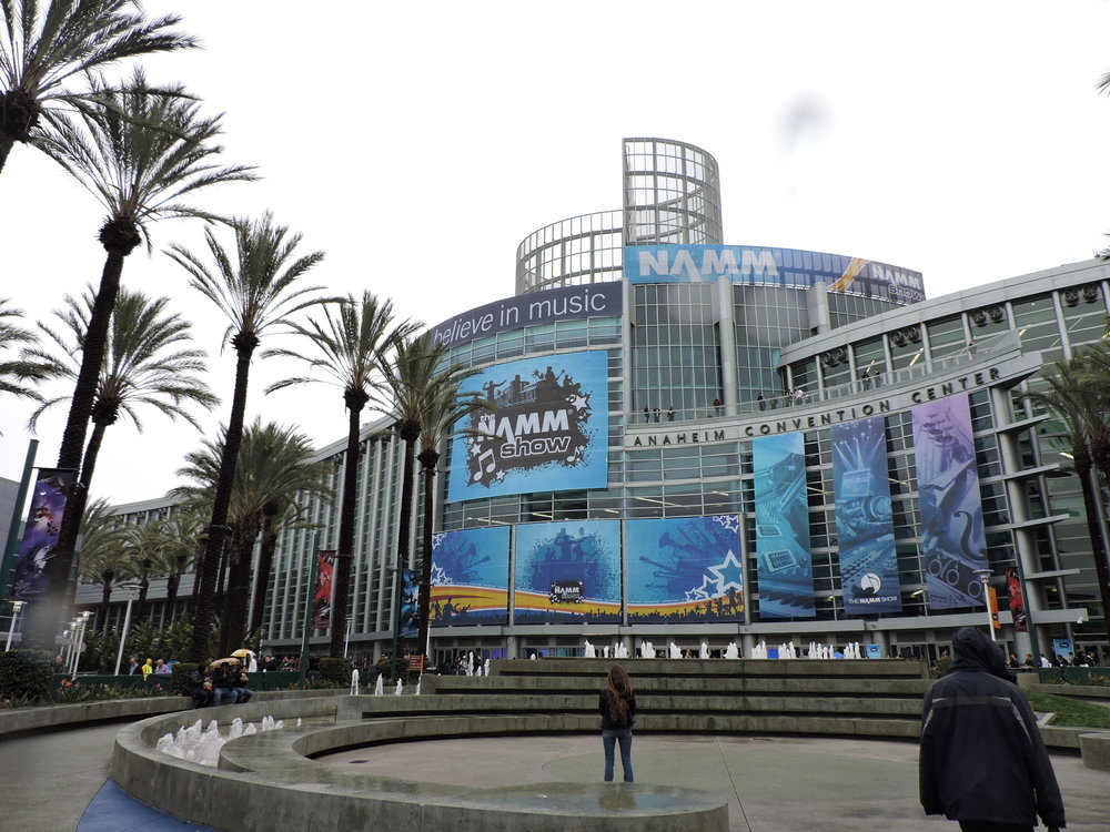 Photo Credit: Megan Polisuk-Balfour                             Front entrance of the 2017 NAMM Show at The Anaheim Convention Center in Anaheim, CA.