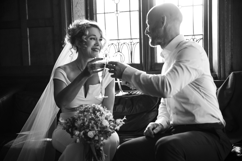 bride and groom toast at boho cornwall.jpg