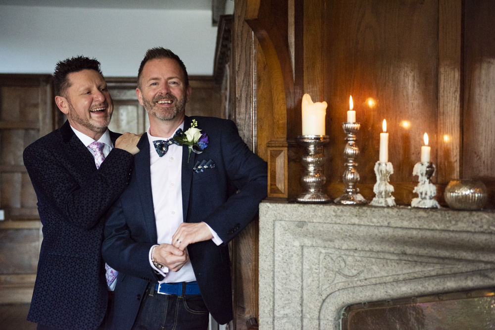 Male same sex wedding cornwall