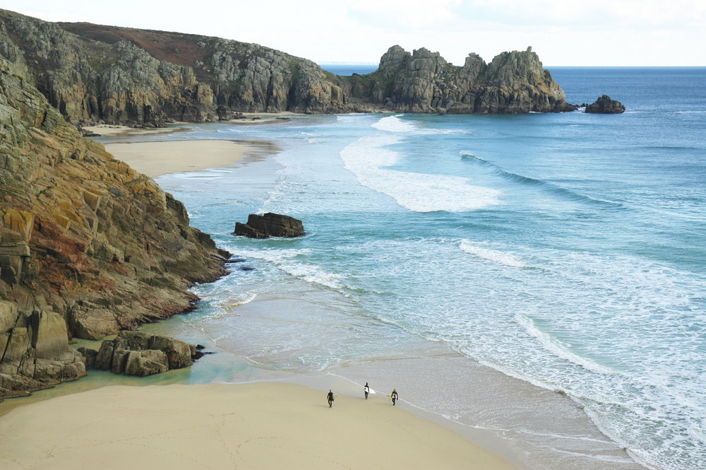 Porthcurnow and Logans rock surf