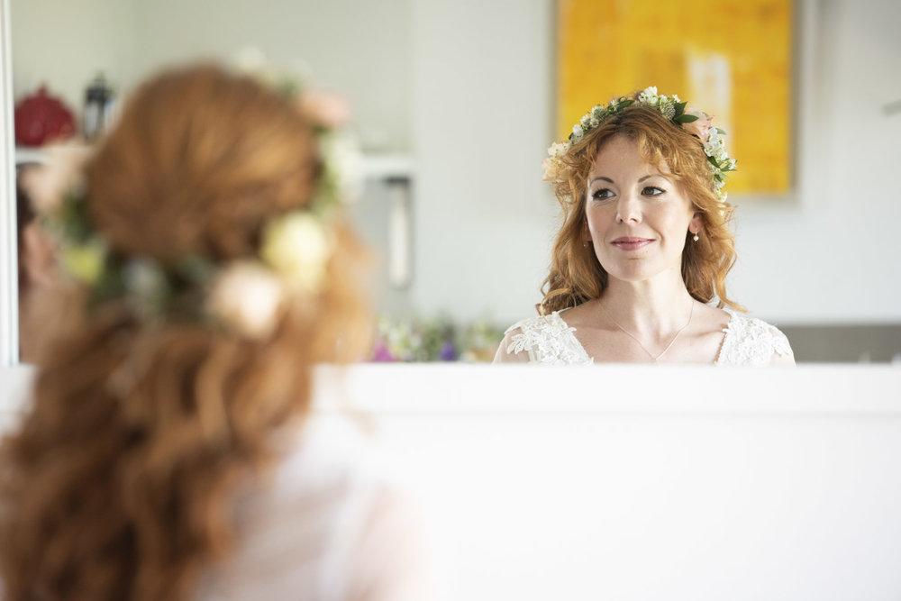 bridal portrait boho cornwall