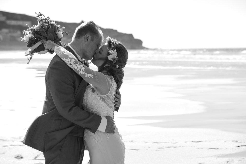 kiss on beach