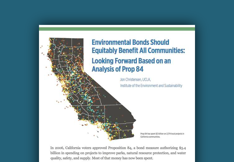 UCLA Environmental Bonds Should Equitably Benefit All Communities -