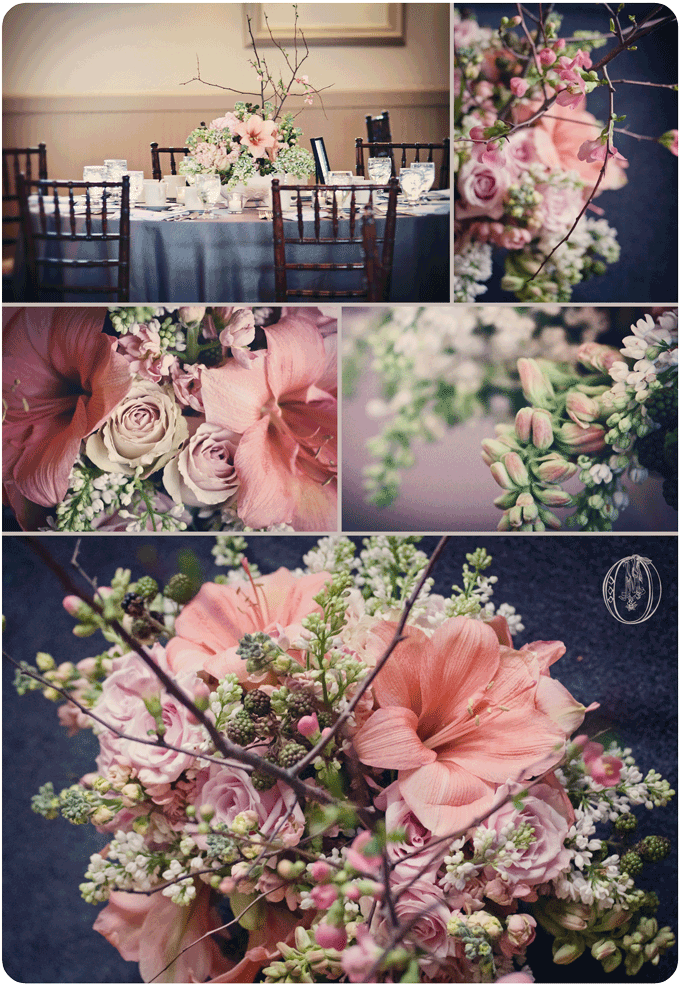 Holly-Hedge-Estate-Spring-Vintage-Milk-Glass-Peach-Amaryllis-White-Lilac-Quince-Branch-Centerpiece-Oleander-New-Jersey-Bucks-County-Wedding-Florist-Floral-Design