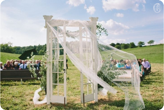 Edison-Bulb-Floral-Chandelier-Antique-French-Door-Ceremony-Grey-Olive-Branch-Vintage-Rustic-Barn-Wedding-Organic-Farm-Wedding-Anthropologie-Wedding-Rodale-Institute-PA-Lauren-Fair-Oleander-Bucks-County-PA-NJ-Wedding-Florist-Floral-Design-Events